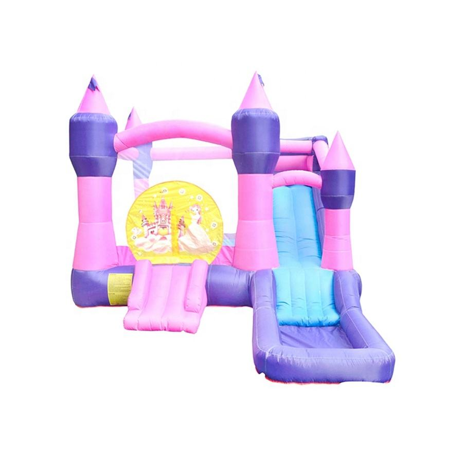 SS62012 Kids Cheap Giant Bouncy Jumping Big Inflatable Princess Castle Bed Adult Bounce House Banners for Sale