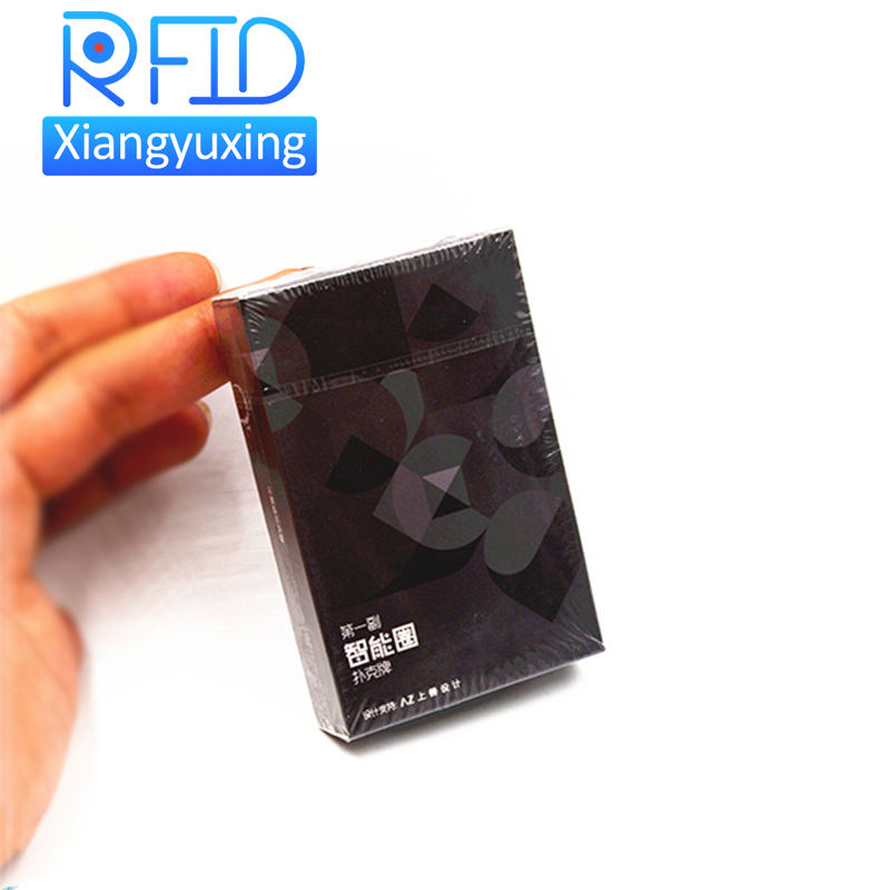 Personnalisé casino 50*52mm imprimé poker puces nfc rfid cartes de poker