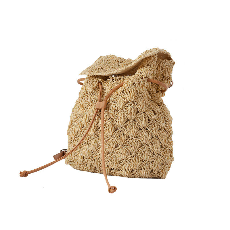 Fashion Bag For Ladies Holiday Backpack Woven Straw bag Beach Handmade