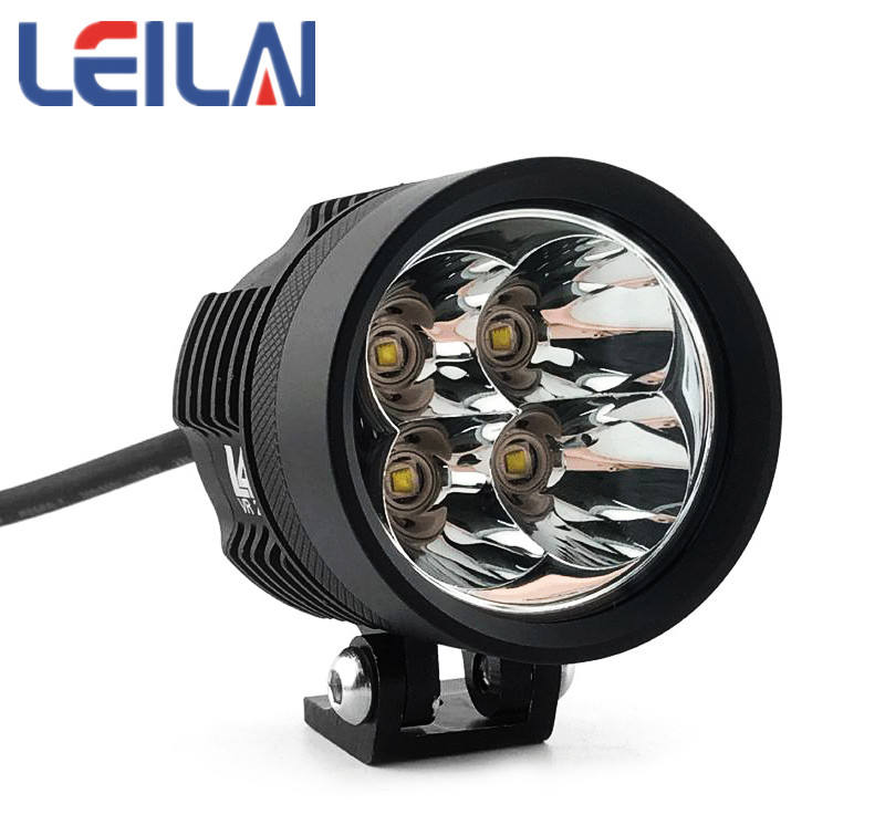 Waterproof 40W LED Motorcycle Headlight L4XS Driving Spot Lamp 12V 24V 6000K