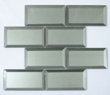 Decorative beveled glass brick mirror mosaic wall tile