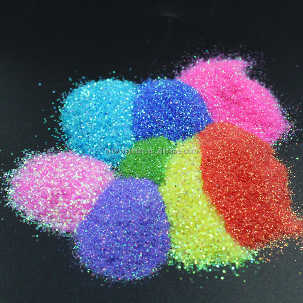 Christmas arts and crafts rainbow glitter powder