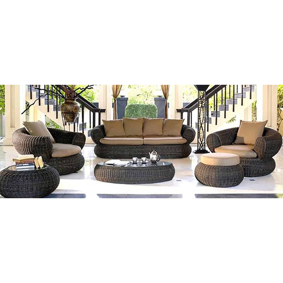 Hot sale Outdoor All Weather cane furniture india Garden Furniture Set