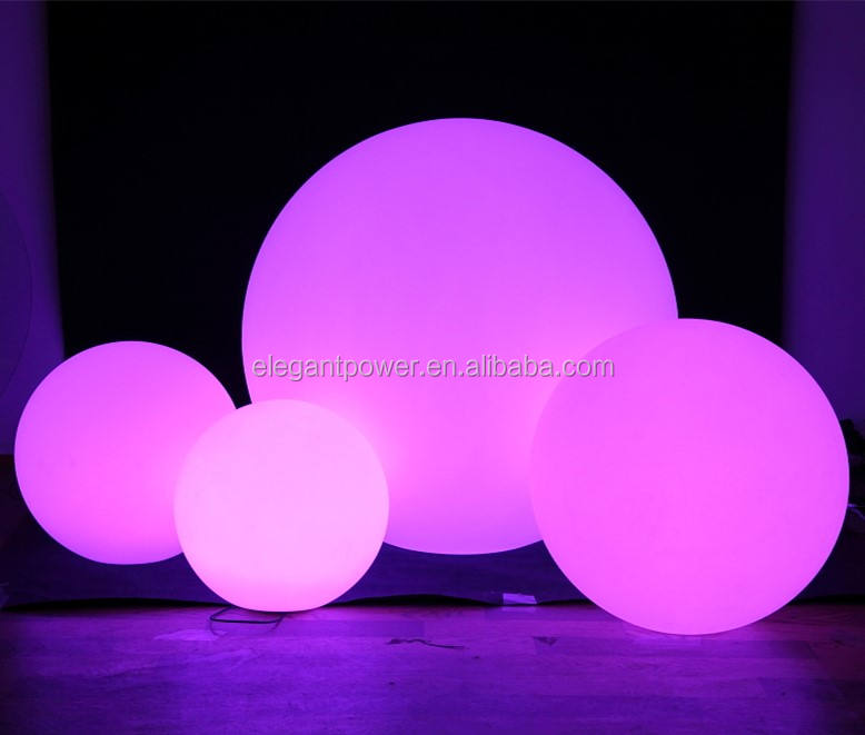 wholesale outdoor floating led pool balls led light up led glowing swimming pool ball