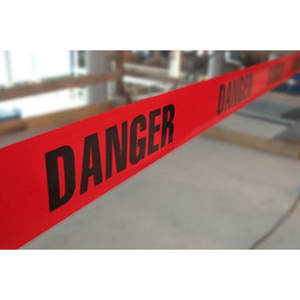 Red DANGER Tape Caution Tape Roll 3-Inch Non-Adhesive Sharp Red Color Warning Tape