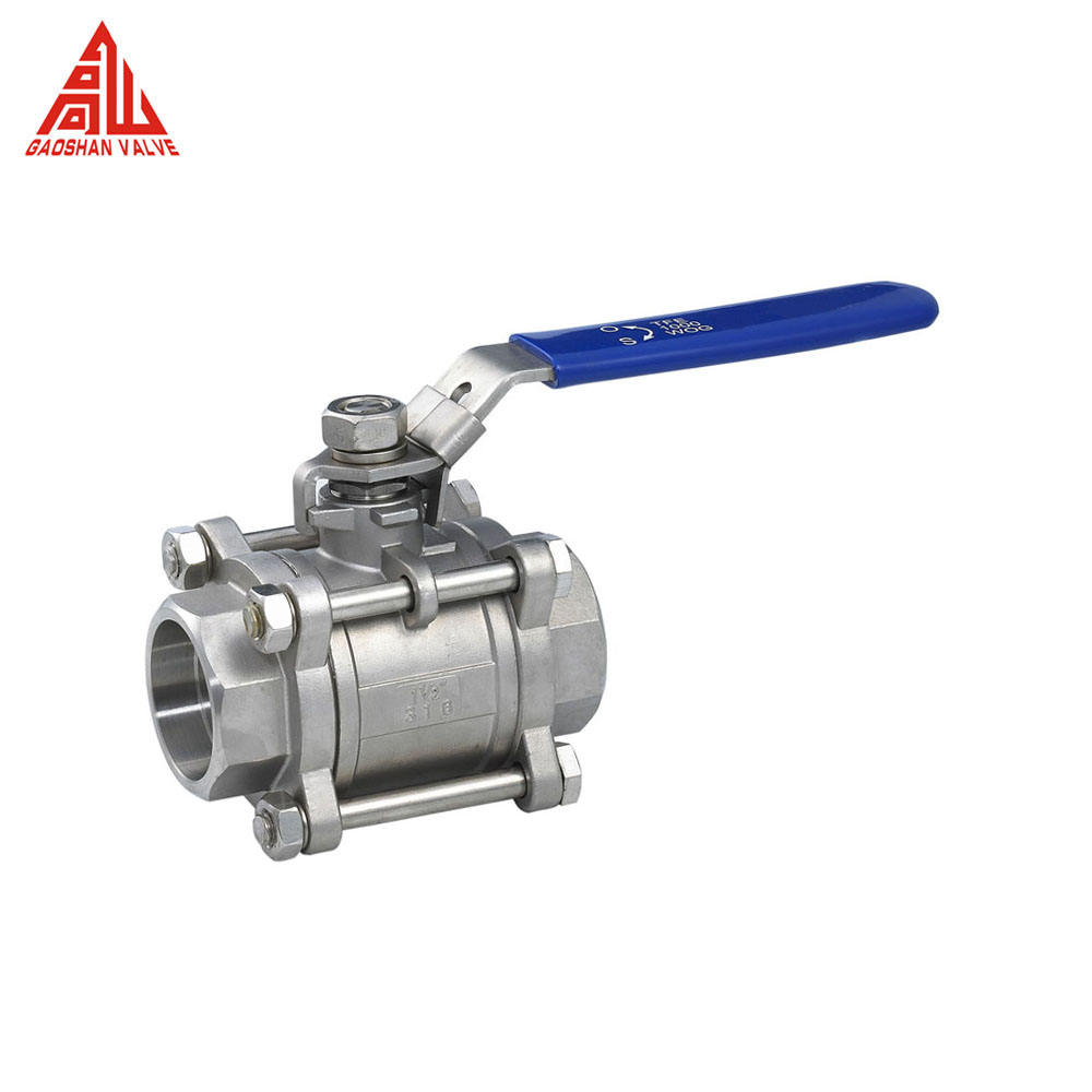 Stainless Steel 316 Socket Welded 3 Pieces Ball Valve