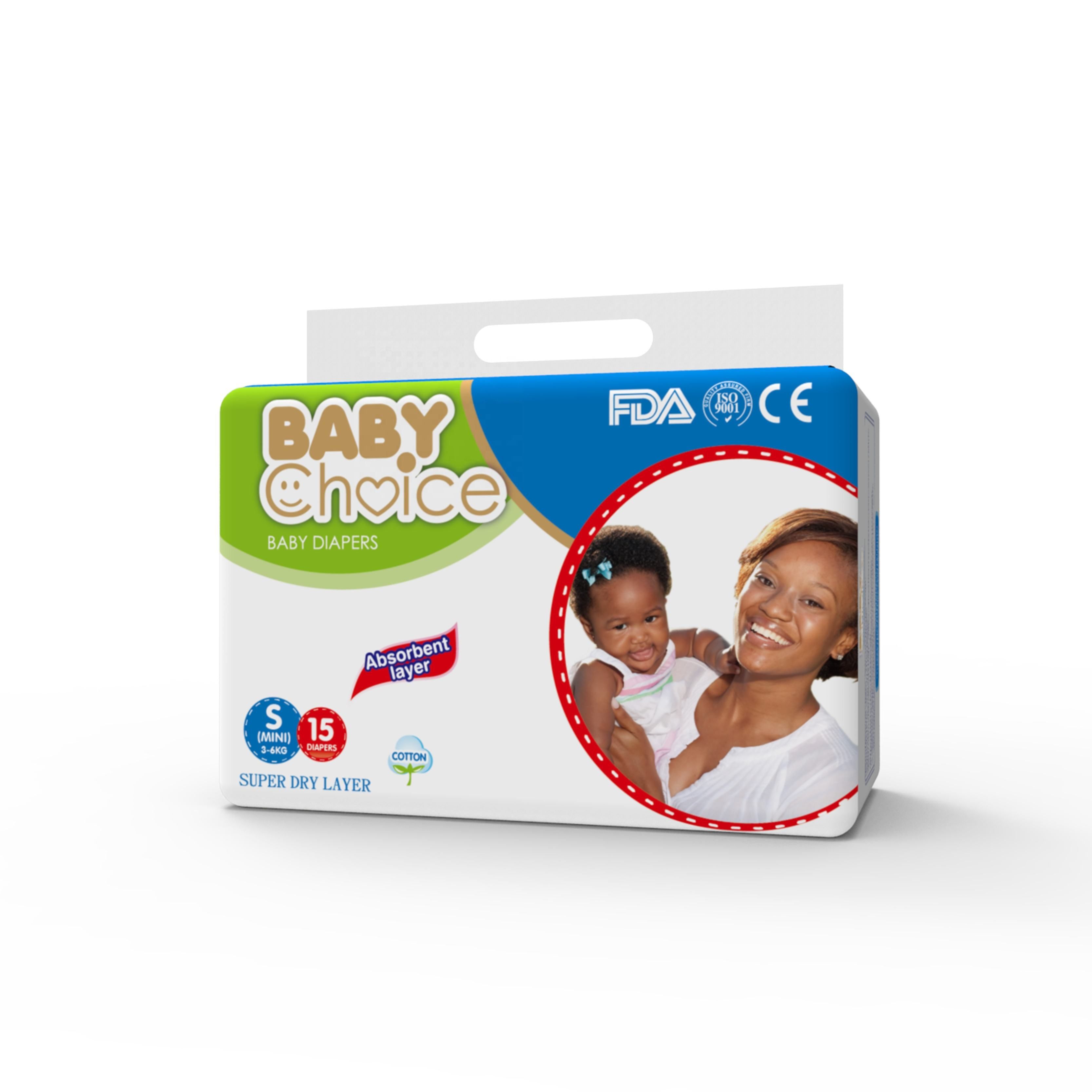 Baby Choice Low price good quality disposable baby diaper