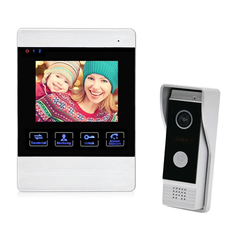 Qualified 2 wire video door camera alarm home security access control system product