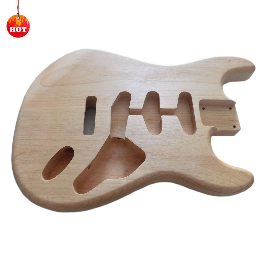 Hot Sale Factory Supply Unfinished DIY SSS ST Guitar Body 2 Piece Alder Guitar Body For Wholesale