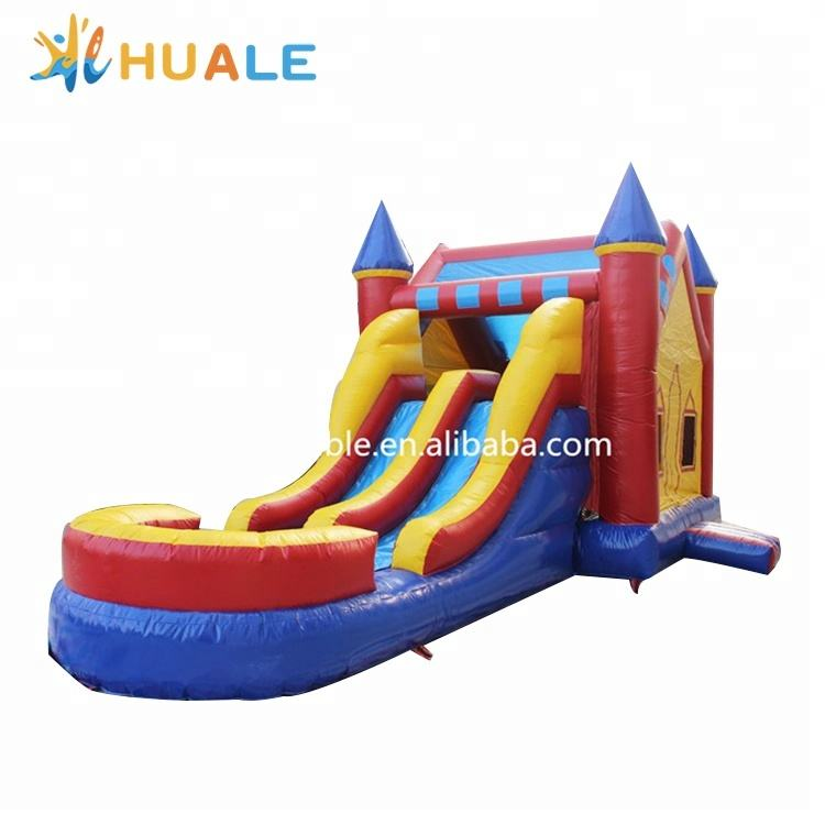 Jump Orange Wet/Dry Inflatable water slide Commercial Grade Bouncy House Combo