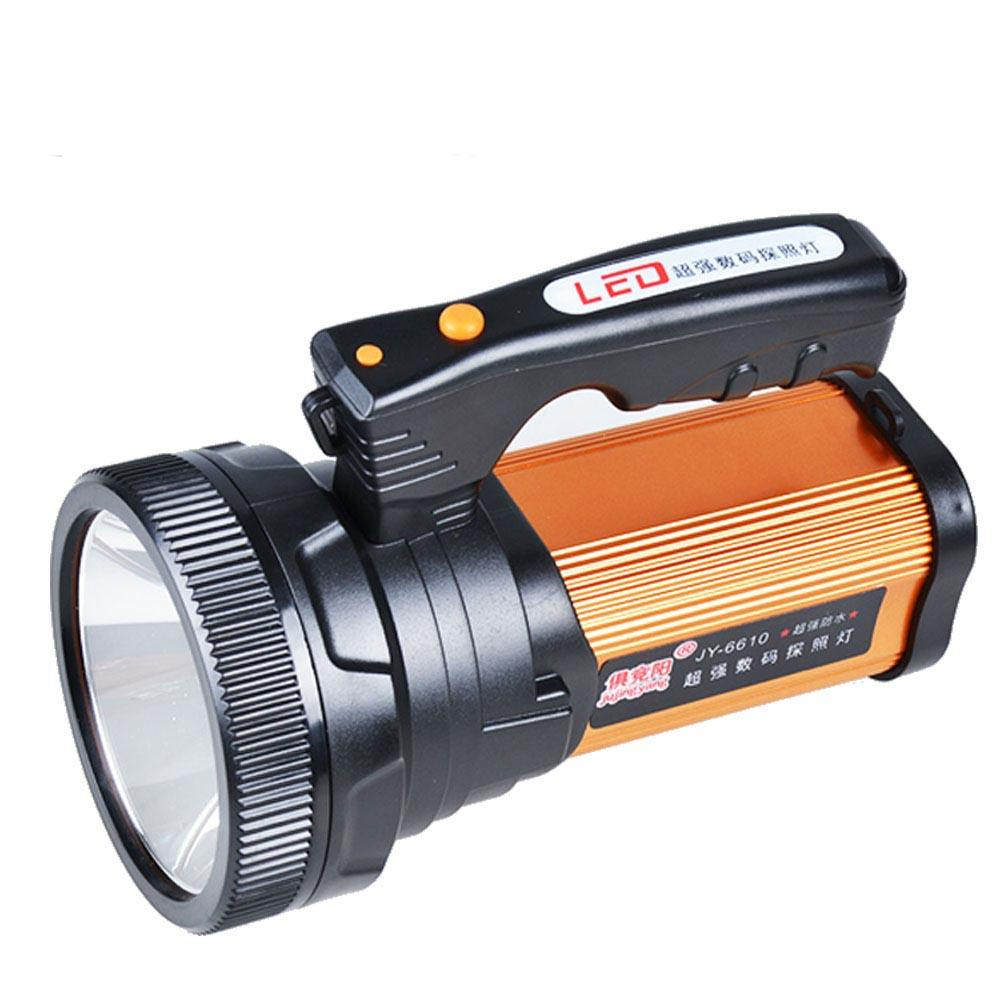 Strong long range searchlight, outdoor security patrol, night fishing emergency LED flashlight
