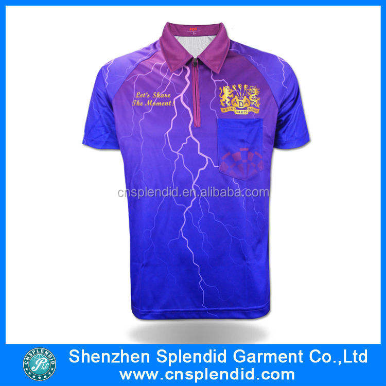 high quality printing thunder and lightning sublimation mens polo shirt