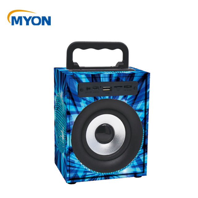 New MP3 Music Box Fashion Popular Portable Wooden Active Speaker With FM Radio Function