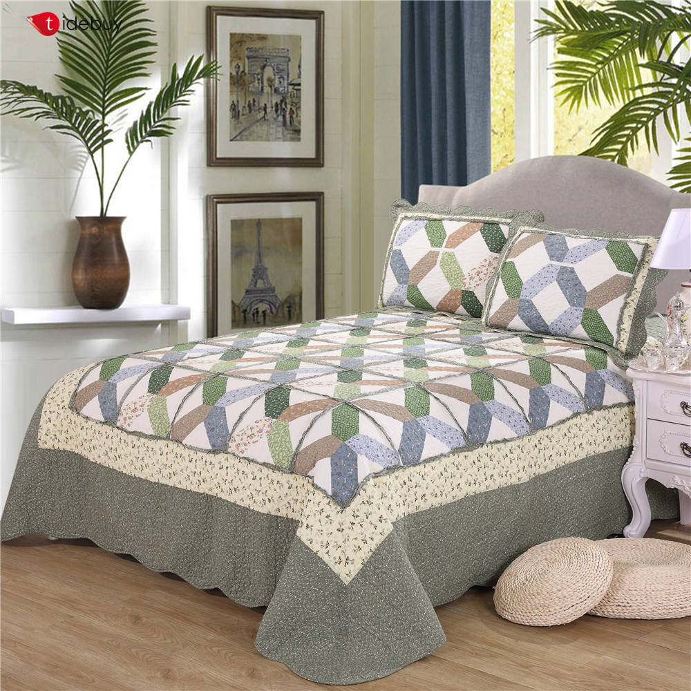 China Wholesale embroidery handmade cotton baby luxury bedding set bed sheet comforter duvet cover bedspread fitted patchwork qu