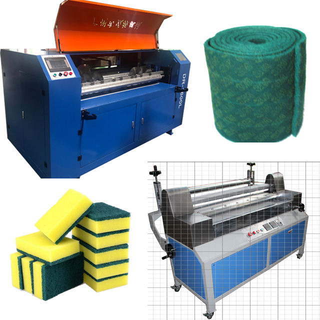 Kitchen sponge  scouring pad  cutting machine and laminating machine