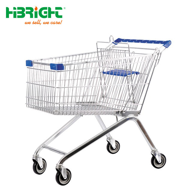 Euro Heavy-duty Metal Supermarket Trolley Cart