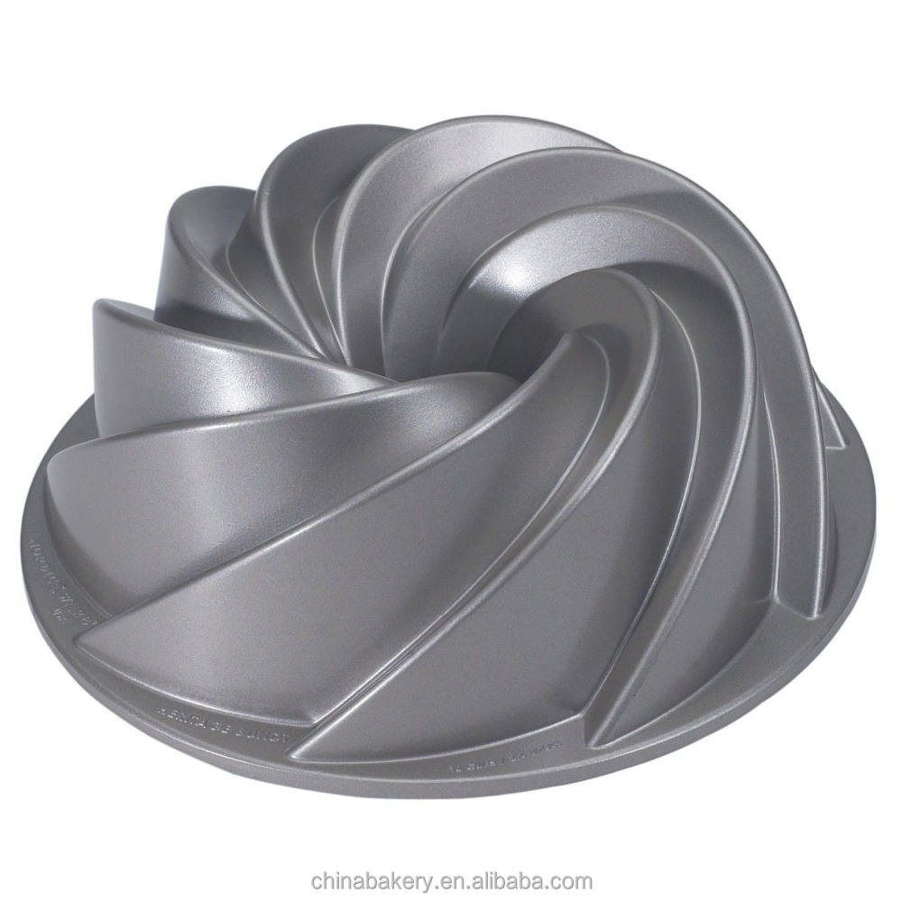 Aluminum non-stick luxury bundt cake pan