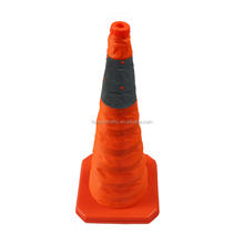 High Quality PP 70cm Flashing Led Light Collapsible Traffic Cone