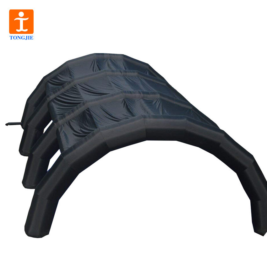 TJ Custom Large Inflatable Event Tent Inflatable Exhibition Structure Inflatable Arch Tent(Black, 39.36' x 26.24' x 13.12')