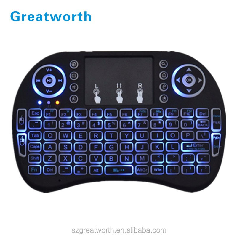 2018 Greatworth Mini i8 wireless keyboard Remote Controller for android tv box