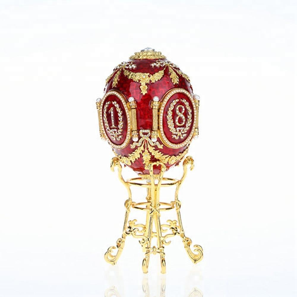 Caucuses Egg Box Faberge Egg Jewelry Boxes/Trinket Boxes