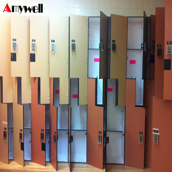 Amywell factory waterproof Phenolic compact HPL gym storage digital locker