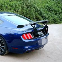 For Ford Mustang 2015 2016 2017 2018 2019 Car Styling Carbon Fiber ABS Plastic Unpainted Color Rear Trunk Wing Roof GT Spoiler