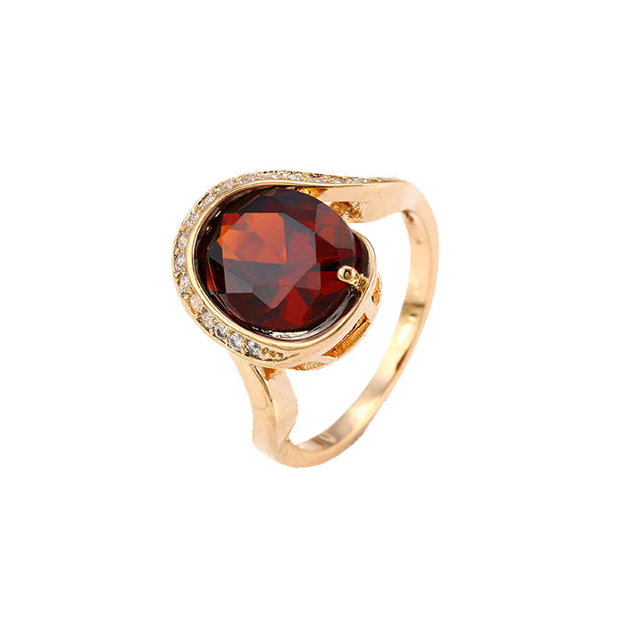12640 Xuping nieuwe product grote steen 18 k plated ring