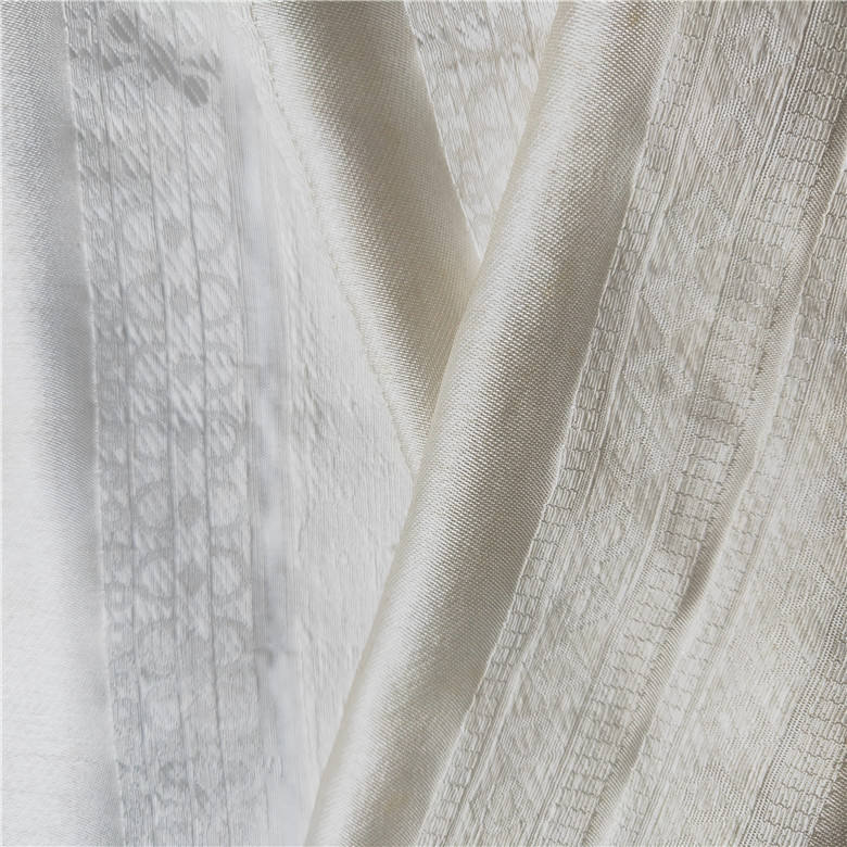 Silk Linen Cotton Rayon Stripe Jacquard with Some Flower design For Autumn Coat