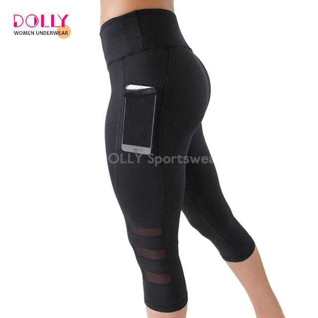 Gym Sports Capris Seamless Yoga Pants Plus Size Summer Cool Mesh Workout leggings