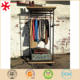 Boutique Clothing Display Rack Store with Wood and Metal