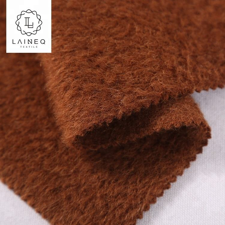 hot sale Korea high-end long hair alpaca heavy wool acrylic blend fabric