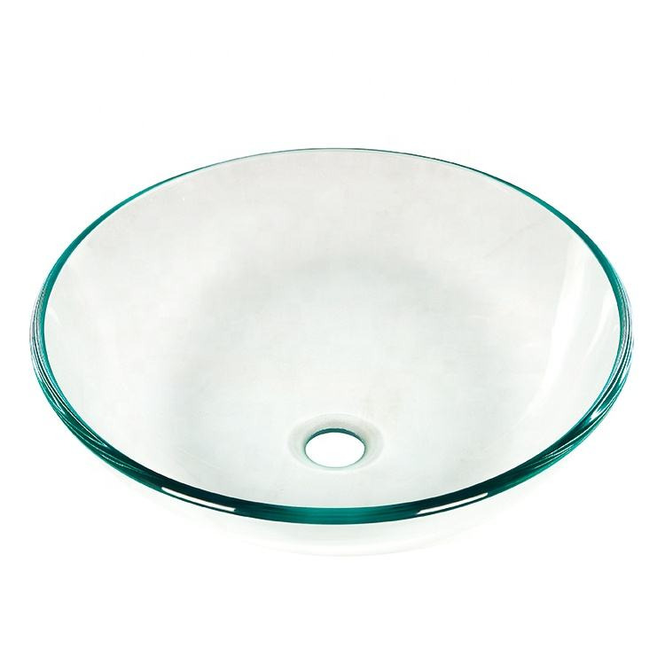 Stock Products Glass Vanity Bowls Bathroom Sinks Wash Basin
