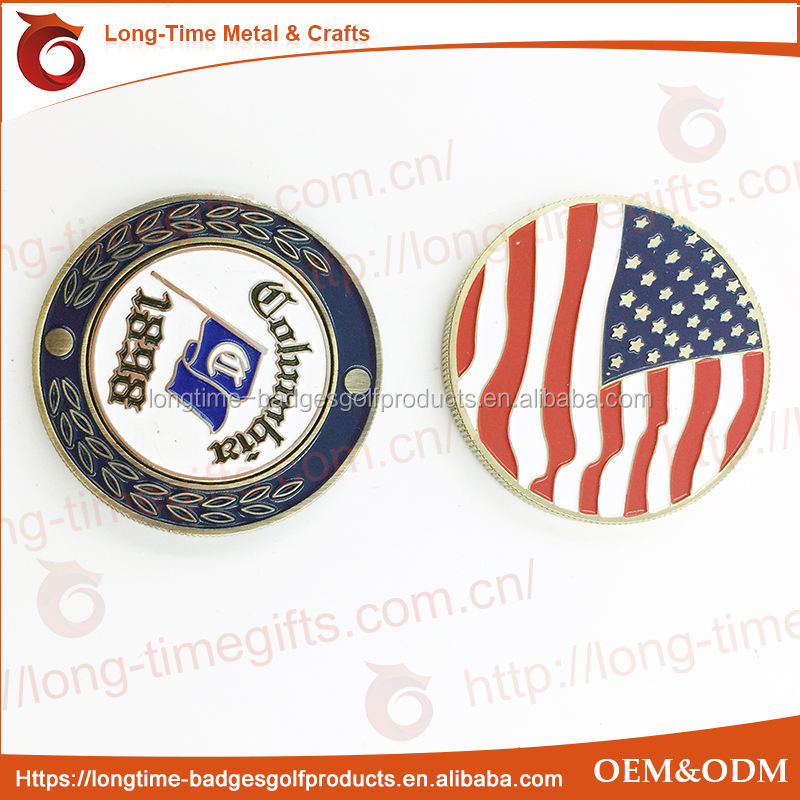 US FLAG magnet golf ball marker
