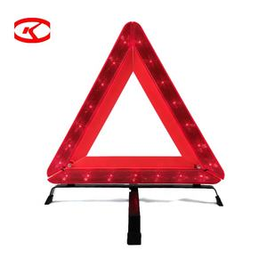 Factory Price Professional Foldable Design Flashing Emergency Reflective Traffic Car Led Triangle Warning Light