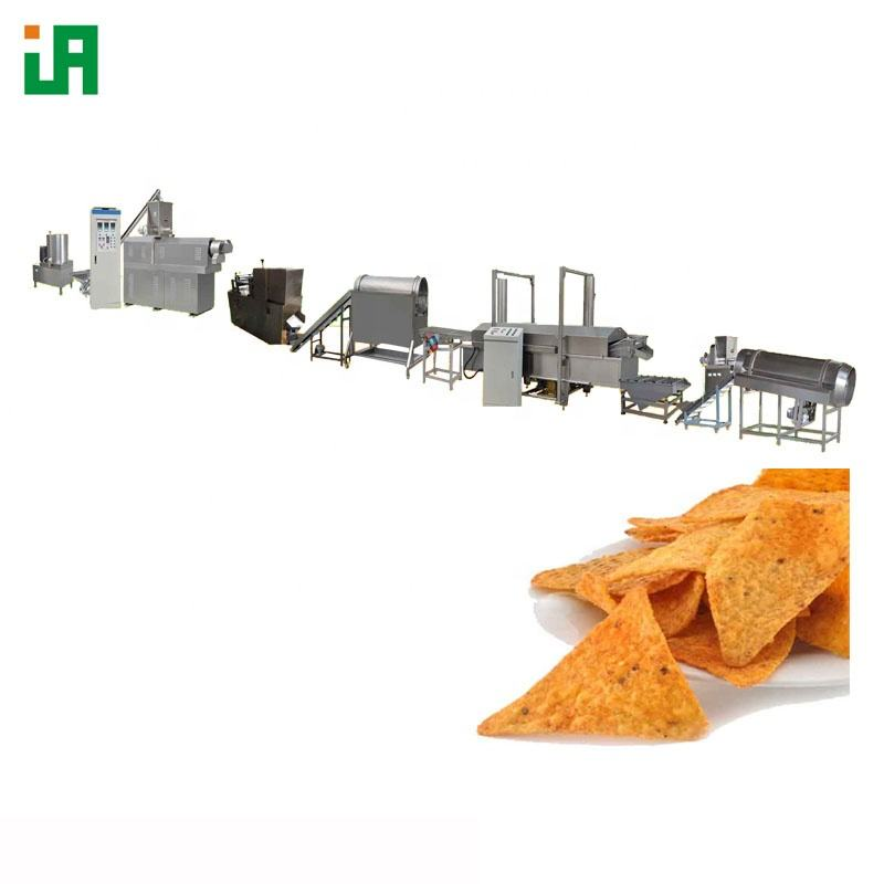 Fried or Baked Tortilla Doritos Snack Extruder Nacho Chips Making Machine