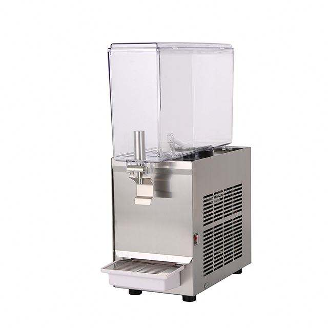 Groothandel hotel restaurant rvs 2 tank oranje china glas verse fruit koude buffet sap dispenser