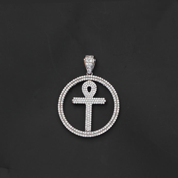 Silver Ankh Charms Pendants Necklace, Ankh Jewelry