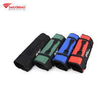 Foldable rolling tool bag canvas pouch electrician tools storage handbag convenient holder bags