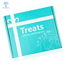 Customized multi color printing eco friendly die cut folding cookie box