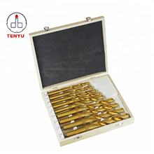 9PCS DIN345 HSS Cobalt M35 Morse Taper Shank Twist Drill Bits Set for Stainless Steel and Metal Drilling Steel with Wood Box