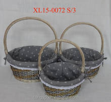 willow wicker BASKET gift basket flower basket