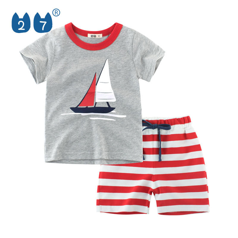 Children Clothing Set Baby Boy Clothes Summer Cartoon New Kids Cotton Cute Sets