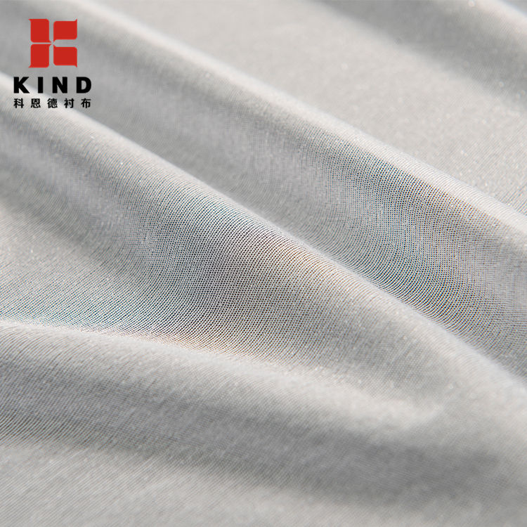 China Supplier colorful 100%POLYESTER Fusible Knitted Clothing Textiles Thick Interfacing Interlining For Shirt
