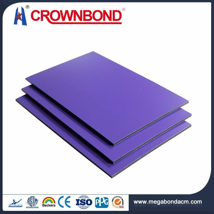 Crownbond أفضل نوعية الألومنيوم acp/acm مع نانو طلاء