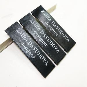 Cheaper Price End Fold Custom Damask Garment Tags Black Printed Care Labels for Clothing