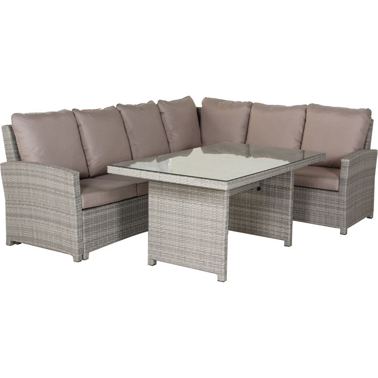 Corner 3PC L Shape Outdoor Rattan Garden Ridge Furniture