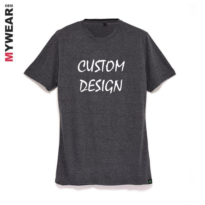 Tri blend t shirt blank design for men custom printing own logo label popular charcoal grey