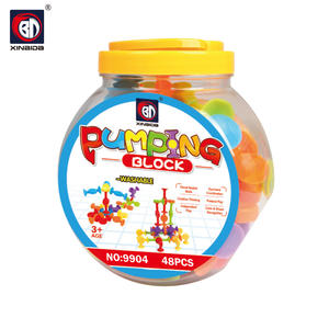 Educational silicone rubber building blocks enlighten brick toys for baby