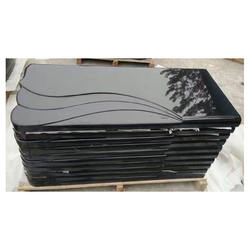 Wholesale High Polish Black Flat Marker Headstone
